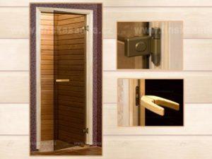 Dveře do sauny by se měly otevírat směrem ven. Také by neměly obsahovat klasický kličkový mechanismus. Měly by se otevřít při jemném zatlačení