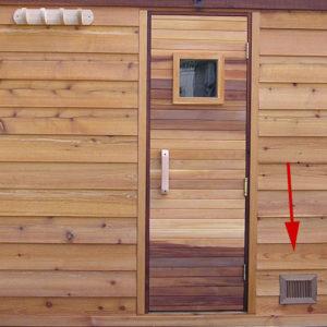 Otvory v sauně mohou vypadat i takhle.
